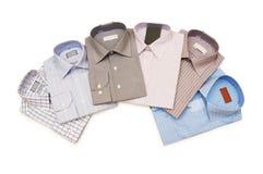 Diverse geïsoleerdeg overhemden Stock Foto's