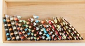 Diverse geneesmiddelen in blaar verpakking royalty-vrije stock foto