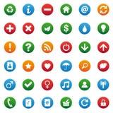 Diverse geplaatste pictogrammen Royalty-vrije Stock Foto
