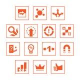 Diverse geplaatste pictogrammen Stock Afbeeldingen