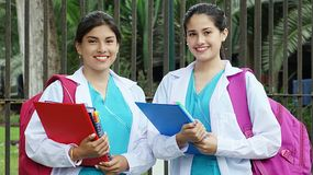Diverse Girl Student Nurse. A pretty young Colombian adult female Royalty Free Stock Photos