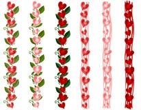 Diverse Grenzen van het Hart van de Dag van de Valentijnskaart Royalty-vrije Stock Foto