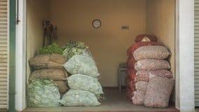 Diverse groenten op markt in Azië Sri Lanka Stock Foto
