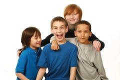 Diverse groep jongens Stock Fotografie