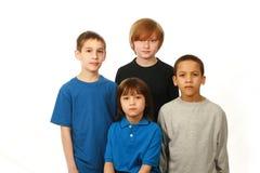 Diverse groep jongens royalty-vrije stock foto