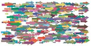 Diverse grootte en kleurenpijlenachtergrond Stock Fotografie