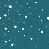 Diverse Groottecirkels en Dots Seamless Pattern Stock Afbeelding