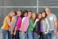 Diverse group. Group of diverse students or teens on campus Royalty Free Stock Photography