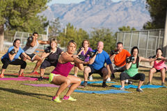 Diverse Group Adults Exercising Royalty Free Stock Photos