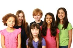Diverse group of boys and girls Stock Image