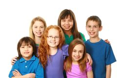 Diverse group of boys and girls Royalty Free Stock Image