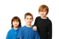 Diverse group of boys stock photos
