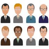 Business men cartoon icons Royalty Free Stock Image