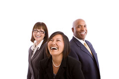 Diverse group of business people isolated on white. Stock Photography