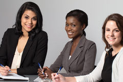 Diverse group of businesswomen working as a team royalty free stock photography