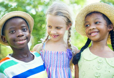 Diverse Group of Children Smiling Royalty Free Stock Photos