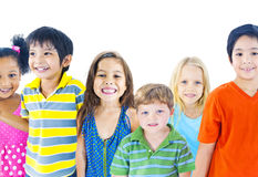 Diverse Group of Children Smiling Stock Photo