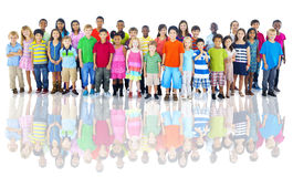 Diverse Group of Children Studio Shot Stock Images