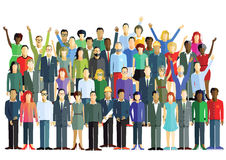 Diverse group. Illustration of diverse group of workers standing together isolated on white Royalty Free Stock Photo