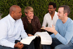 Diverse group of men studying together. Stock Photography