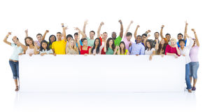 Diverse Group Of Young People Celebrating Royalty Free Stock Images