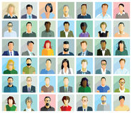 Diverse group of people cards Stock Image