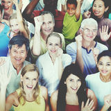 Diverse Group People Celebration Teamwork Concept Stock Image