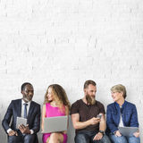 Diverse Group of People Community Togetherness Technology Concept royalty free stock photography