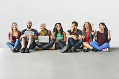 Diverse Group of People Community Togetherness Technology Concept royalty free stock images