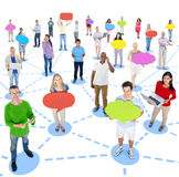 Diverse Group of People and Connection Concepts Royalty Free Stock Images