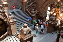 Diverse group of people gathered for tour of Albany's State Capitol Building,Albany,New York,2015 Royalty Free Stock Image
