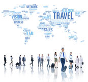 Diverse Group of People Going to Travel Royalty Free Stock Photo