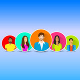 Diverse Group Of People Icon Avatar Man And Woman Stock Photos