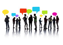 Diverse Group of People interacting Stock Photo