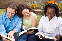 Diverse group of people reading and studying. Royalty Free Stock Photography