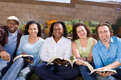 Diverse group of people reading and studying. Stock Photos