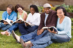 Diverse group of people reading and studying. Royalty Free Stock Images