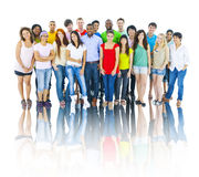 Diverse Group of People Smiling Stock Photography