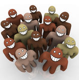 Diverse Group of People - Smiling Faces stock illustration