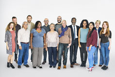 Diverse Group People Standing Concept stock images