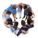 Diverse group of people standing together Stock Images
