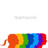 A diverse group of people in this teamwork graphic Stock Photography