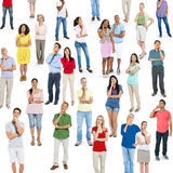 Diverse Group of People Thinking Royalty Free Stock Image