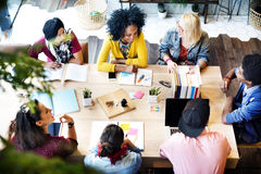 Diverse Group People Working Together Concept. Royalty Free Stock Images