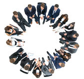 Diverse group pf young business people seated round a table disc. Diversity Business people Meeting Team Coorporate Concept Stock Images