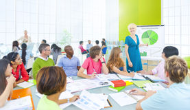 Diverse Group of Student Presentation Stock Photo