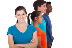 Diverse group teenagers Royalty Free Stock Photos