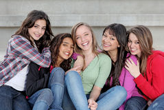 Diverse group of teens Royalty Free Stock Photos