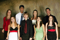 Diverse group of teens performing Royalty Free Stock Photography