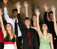 Diverse group of teens performing Royalty Free Stock Photos